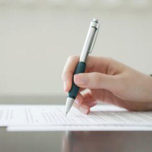 書類を書く